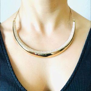 Round Swarovski gold necklace from BCBGMAXAZRIA